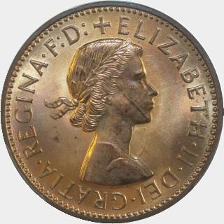 1960-Y Proof Half Penny obverse