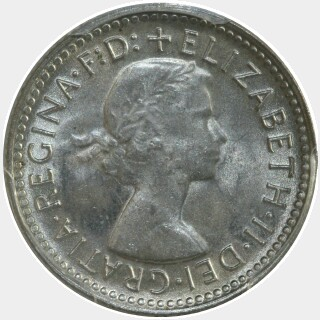 1958  Sixpence obverse
