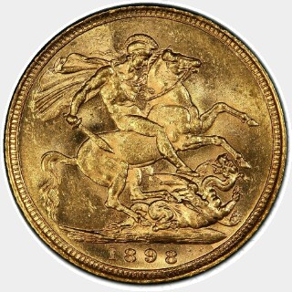 1898-S  Full Sovereign reverse