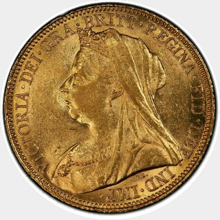 1898-S  Full Sovereign obverse