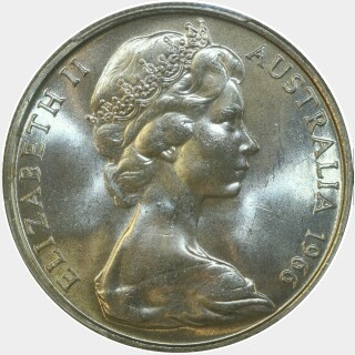 1966  Fifty Cent obverse
