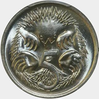 1973  Five Cent reverse
