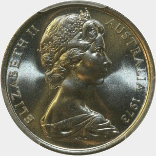 1973  Five Cent obverse