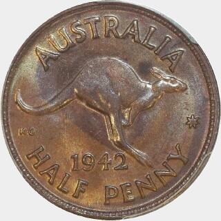 1942-Y  Half Penny reverse