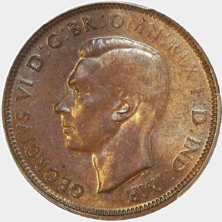 1942-Y  Half Penny obverse