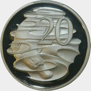 1988 Proof Twenty Cent reverse