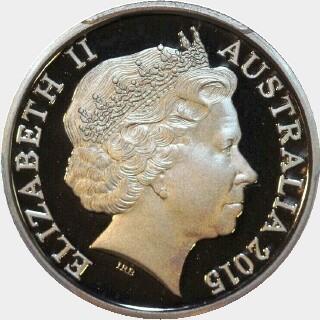 2015 Proof Ten Cent obverse