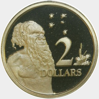 1989 Proof Two Dollar reverse