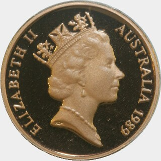 1989 Proof Two Cent obverse