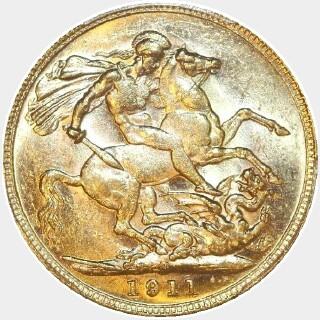1911-M  Full Sovereign reverse