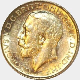 1911-M  Full Sovereign obverse