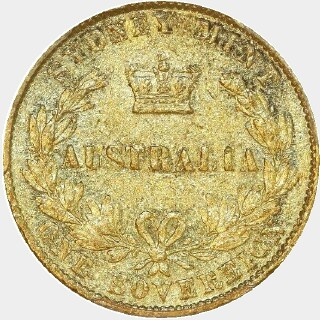 1867  Full Sovereign reverse