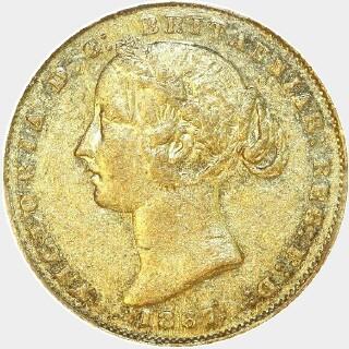 1867  Full Sovereign obverse