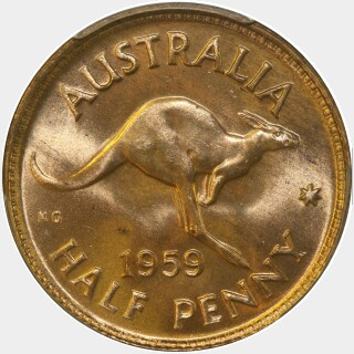 1959  Half Penny reverse