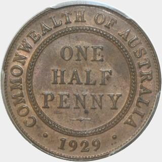 1929  Half Penny reverse
