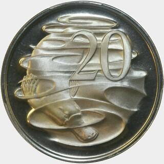 1974 Proof Twenty Cent reverse