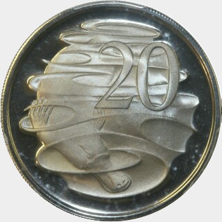 1972 Proof Twenty Cent reverse