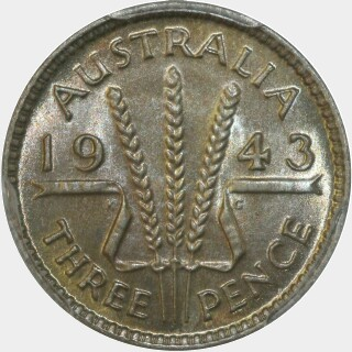 1943  Threepence reverse