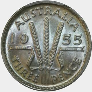 1955  Threepence reverse