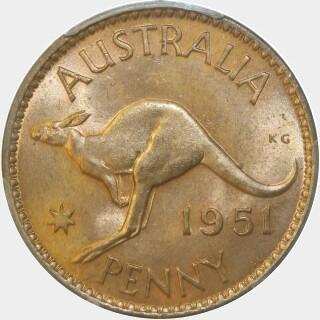 1951-PL  Penny reverse