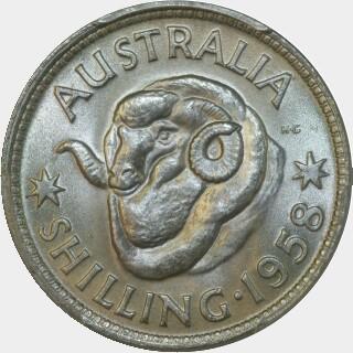 1958  Shilling reverse