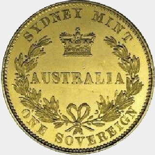 1853 Pattern Full Sovereign reverse