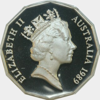 1989 Proof Fifty Cent obverse