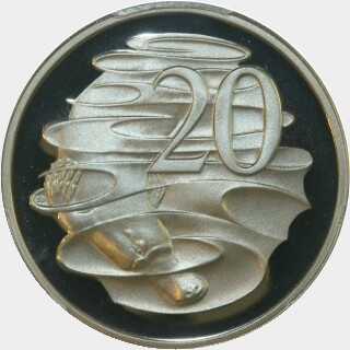 1989 Proof Twenty Cent reverse