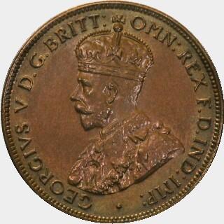 1922 Specimen Half Penny obverse