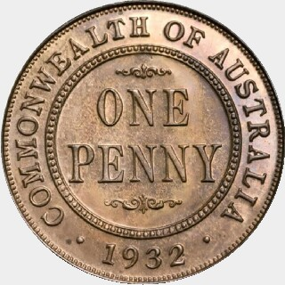 1932 Proof Penny reverse