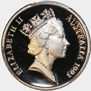 1993 Proof Five Cent obverse