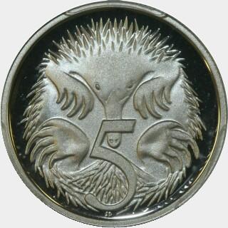 1999 Proof Five Cent reverse