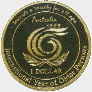 1999 Proof One Dollar reverse