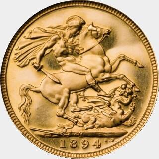 1894-M Proof Full Sovereign reverse