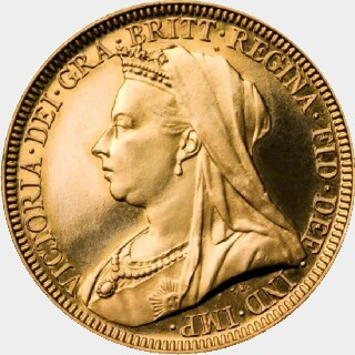 1894-M Proof Full Sovereign obverse