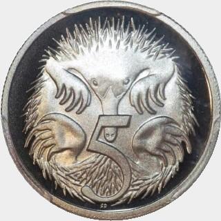 2004 Proof Five Cent reverse