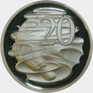 1994 Proof Twenty Cent reverse