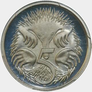 1988 Proof Five Cent reverse