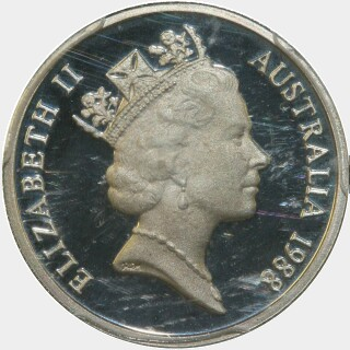 1988 Proof Five Cent obverse