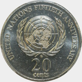 1995  Twenty Cent reverse