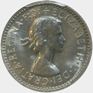 1958 Proof Threepence obverse