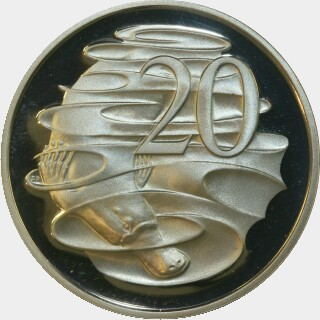 1985 Proof Twenty Cent reverse