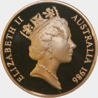 1986 Proof Two Cent obverse
