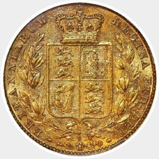1880-S Barred V Full Sovereign reverse