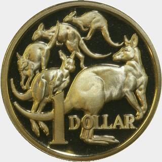 1991 Proof One Dollar reverse