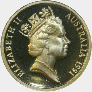 1991 Proof One Dollar obverse