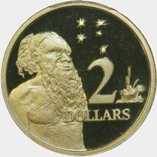 1996 Proof Two Dollar reverse