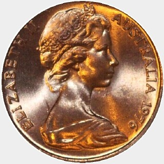 1976  One Cent obverse