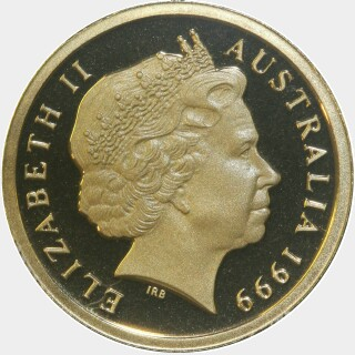 1999 Proof Two Dollar obverse