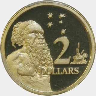 1995 Proof Two Dollar reverse